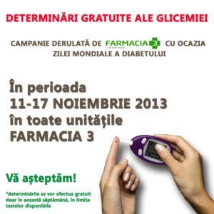 Determinari gratuite ale glicemiei