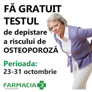 Testare gratuita a riscului de osteoporoza